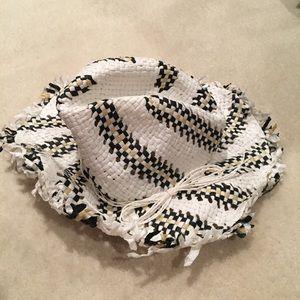 BCBGMaxAzria Straw Hat White